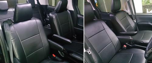 川崎のKK様のヴォクシーシートカバー取付画像